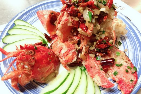 lobster with cucomber